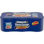 Armour Vienna Sausage, Barbecue Flavored, 6 Pack