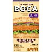 Boca Original Vegan Chik'n Veggie Patties with Non-GMO Soy