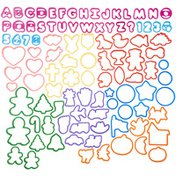 Wilton Alphabet, Numbers and Holiday Plastic Cookie Cutters, 101-Piece Set