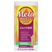 Metamucil Natural Psyllium Husk Powder Fiber Supplement, Plant Based,  4-in-1