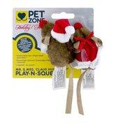 Pet Zone Play-n-Squeak Mr. & Mrs. Claus Hunter