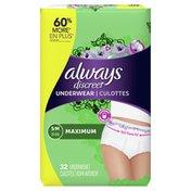 Always Incontinence Underwear, Maximum