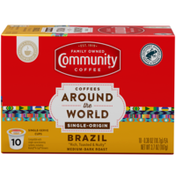 Community Coffee Coffees Around the World Brazil Coffee Pods for Keurig K-cups