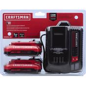 Craftsman Lithium Iron Batteries & Charger Kit