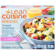 LEAN CUISINE Egg whites, roasted red potatoes, reduced fat cheddar cheese, red peppers, onions & spinach Veggie Scramble