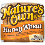 Nature's Own Bread, Honey Wheat, Thin Sandwich