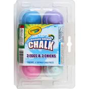 Crayola Washable Sidewalk Chalk, 3 Eggs & 3 Chicks