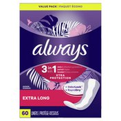 Always Xtra Protection 3in1 Daily Liners Extra Long