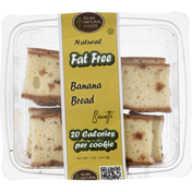 Dijas Natural Foods Biscotti, Fat Free, Banana Bread