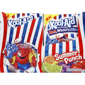 Kool-Aid Soft Drink Mix, Unsweetened Red, White 'n Blue, Summer Punch