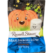 Russell Stover Marshmallow, In Milk Chocolate, Pumpkin, Bag