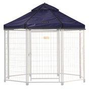 Advantek Pet Pet Outdoor Gazebo Designer Polyester Market Canopy Cover Tarp Umbrella Top - Cobalt Sky - 5'