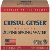 Crystal Geyser Alpine Spring Water Natural 1.5L Alpine Spring Water