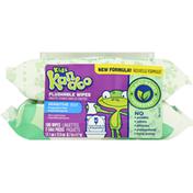 Kandoo Flushable Wipes, Sensitive, Fragrance Free