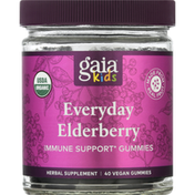 Gaia Herbs Everyday Elderberry, Gummies