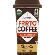 Forto Coffee Shot, Double, Organic, Vanilla with Milk