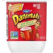 Danimals Nonfat Strawberry Banana Yogurt