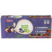 Hy-Vee Strawberry & Blueberry Lowfat Yogurt