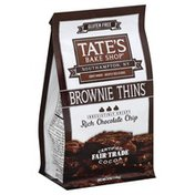 Tate's Bake Shop Brownie Thins, Rich Chocolate Chip