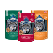 Blue Buffalo Wilderness Trail Treats High Protein Grain Free Crunchy Dog Biscuits Duck, Turkey, and Salmon 10-oz Variety Pack