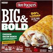 Hot Pockets Big & Bold Chicken Bacon Ranch Cheddar Ranch Blasted Crust Frozen Snacks