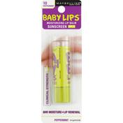 Maybelline Lip Balm, Moisturizing, Clinical Strength, Sunscreen SPF 20, Peppermint 10