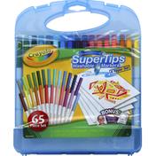 Crayola Markers & Paper Set, Washable, Super Tips