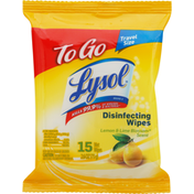 Lysol Disinfecting Wipes, Lemon & Lime Blossom Scent, To Go, Travel Size