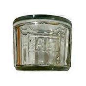 Creative Co-op Round Pressed Glass Salt Cellar