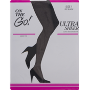 On the Go! Ultra Sheer Size 1 Off Black