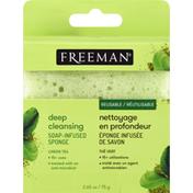 Freeman Sponge, Soap-Infused, Deep Cleansing, Green Tea