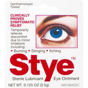 Stye Eye Ointment, Sterile Lubricant