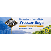 First Street Heavy Duty Reclosable Storage Bags