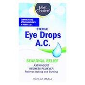 Best Choice Seasonal Relief Allergy Eye Drops