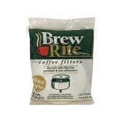Brew Rite Coffee Filters, Disc-Style