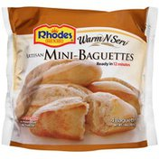 Warm N Serv Artisan 4 Ct Mini-Baguettes