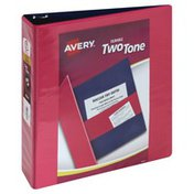 Avery Binder, Durable Two Tone, Clear Cover, 2 Inch