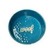 Ore Originals Ceramic Etched Bowl Dog, Blue