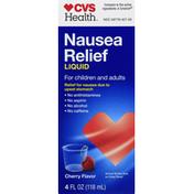 CVS Health Nausea Relief, Liquid, Cherry Flavor