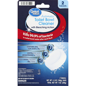 Great Value Toilet Bowl Cleaner, with Bleaching Action, Automatic