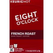 Eight O'Clock Coffee Coffee, Dark Roast, French Roast, K-Cup Pods