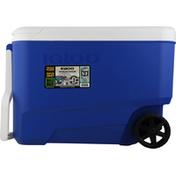Igloo Cooler, Wheeled, Majestic Blue, 38 Quarts