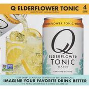 Q Mixers Tonic Water, Elderflower, 4 Pack