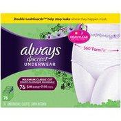 Always Discreet Maximum Classic Cut S/M Underwear