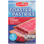 Our Family Frosted Cherry Toaster Pastries