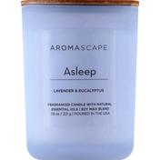Aromascape Candle, Lavender & Eucalyptus, Asleep