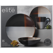 Gibson Elite Dinnerware Set, Stoneware, Convergence