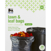 Food Lion Lawn & Leaf Bags, With Closures