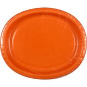 First Street Plates, Oval, Sunkissed Orange