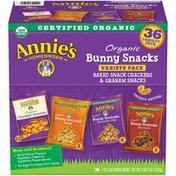 Annie's Organic Bunny Snacks Variety Pack Baked Graham Crackers & Graham Snacks